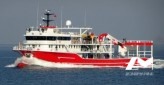 Thonier senneur neuf coque acier de 50 x 17 m moteurs 5830 CV avec 2 grues et 2 petits bateaux annexes en acier