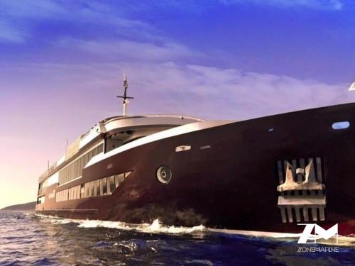 Magnifiqueet luxueux bateau passagers restaurant bar évent réceptif boutique de luxe 45 mè tout équipé pour le confort et la sécurité de 350 passagers