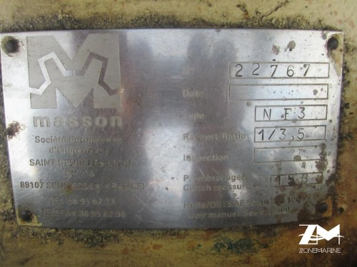 Reducteur inverseur gearbox Masson NF3