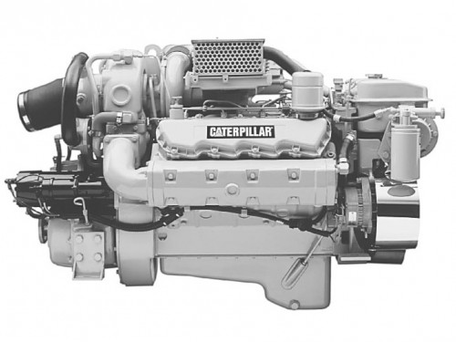 Caterpillar 3208 toute puissance N°S, 1Z et UP.