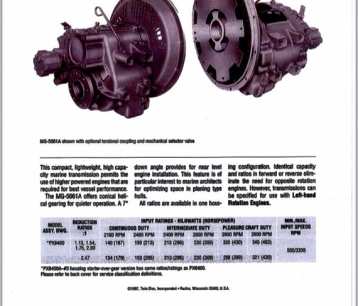 Iveco 8060srm 25 et twin disk 1/2.5